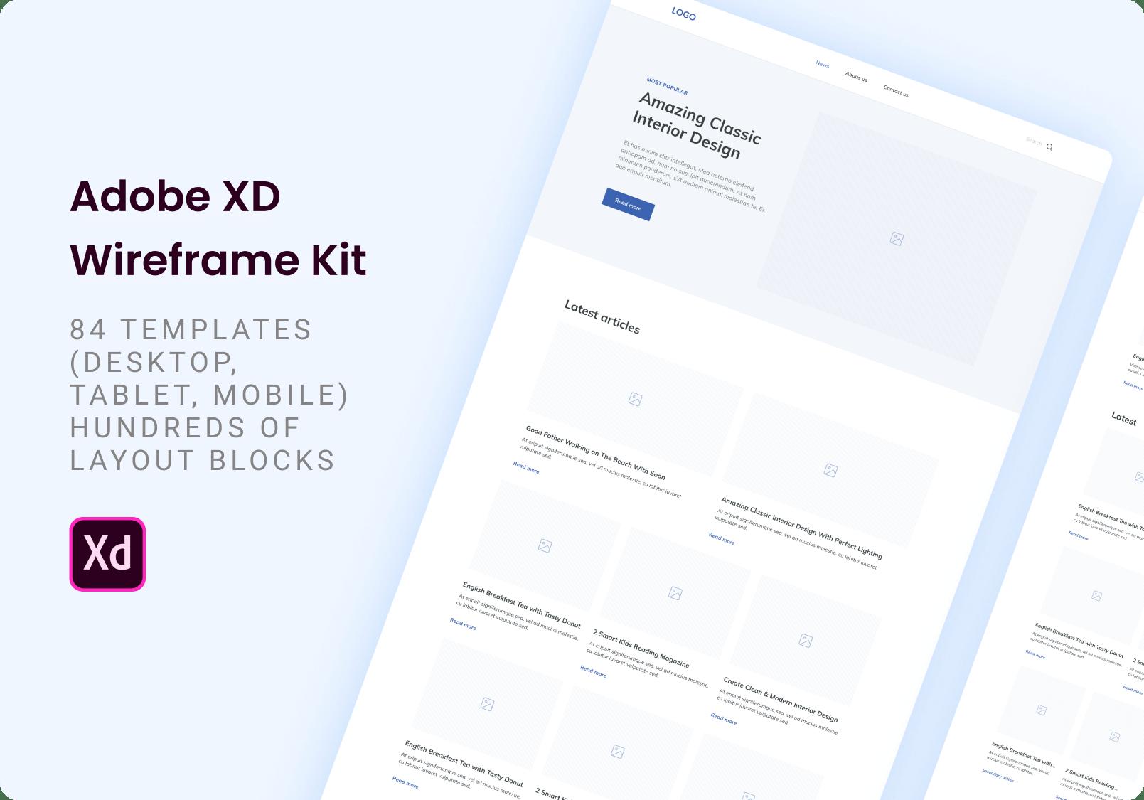 Adobe XD Wireframe Kit