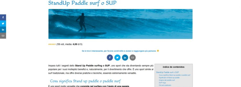 Tavole Paddle Surf
